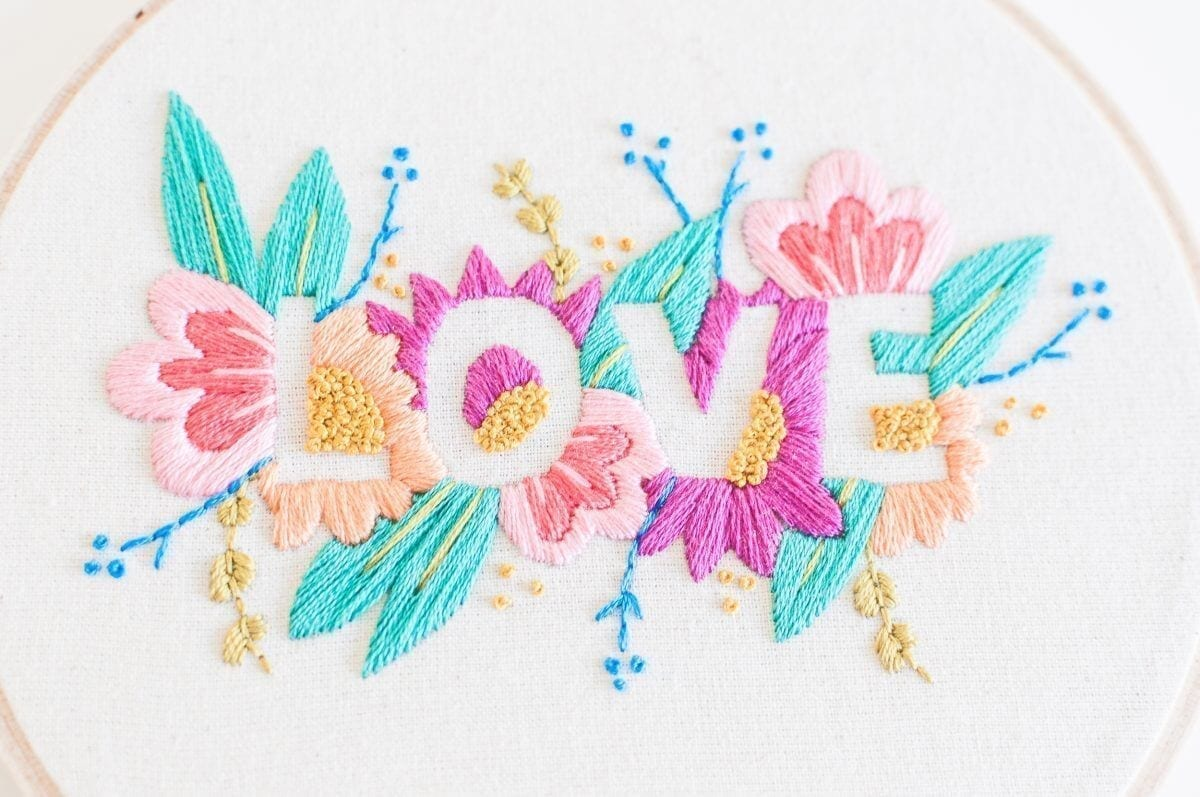 LOVE Embroidery Kit Do it Yourself Embroidery Kit with Pattern