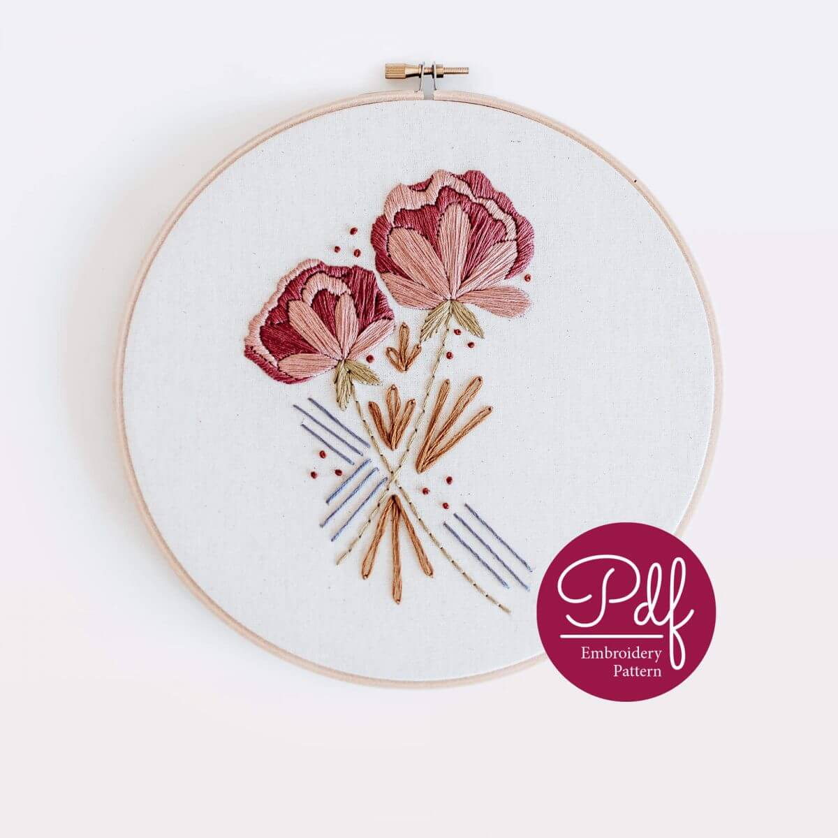 Desert Haze Embroidery pattern PDF Digital Download