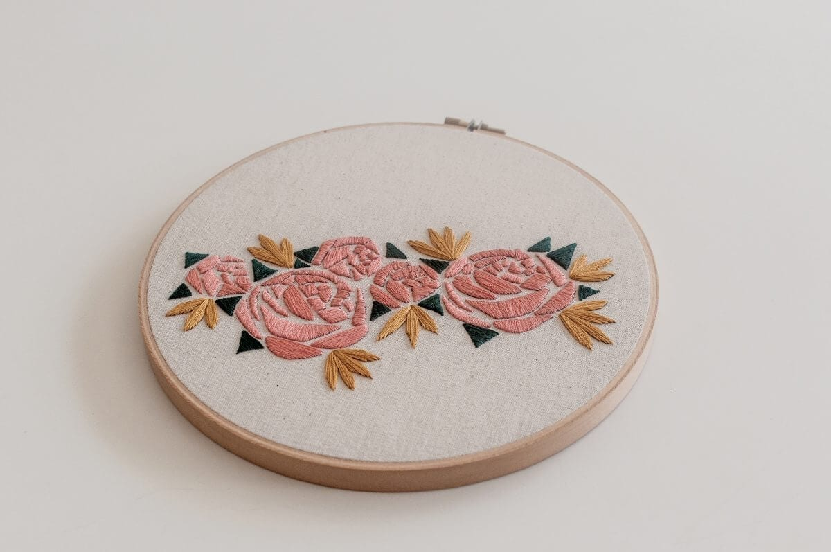 Geometric Florals Embroidery Kit Do it Yourself Embroidery Kit with Pattern