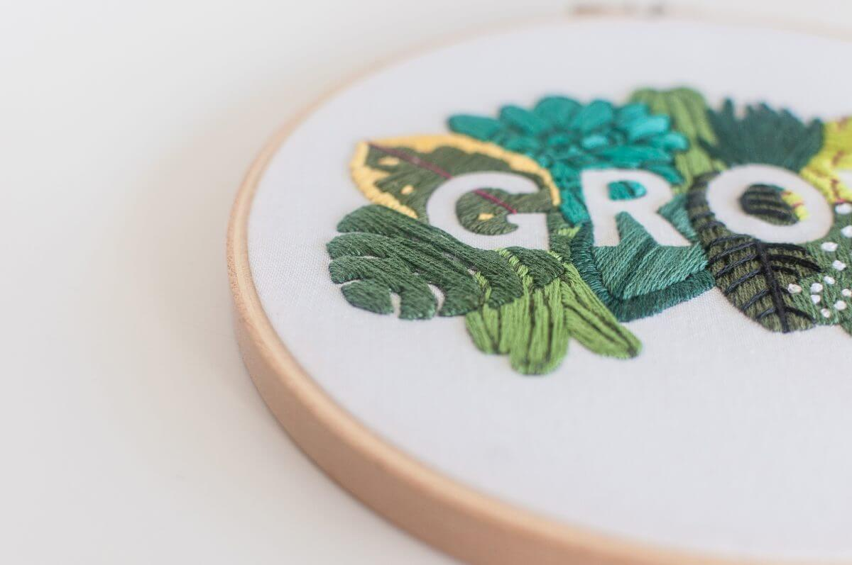 GROW Embroidery Kit Do it Yourself Embroidery Kit with Pattern