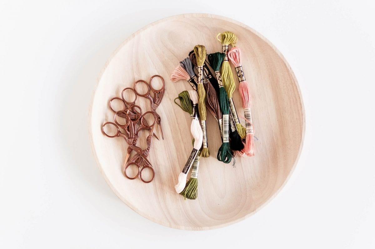 Dark Rose Gold Stork Scissors Antique Vintage Design Sewing & Embroidery Scissors