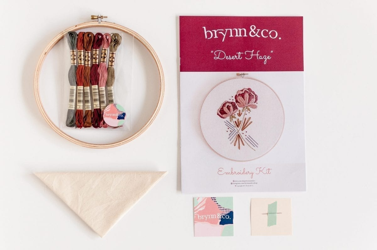 Desert Haze Do it Yourself Embroidery Kit with Pattern