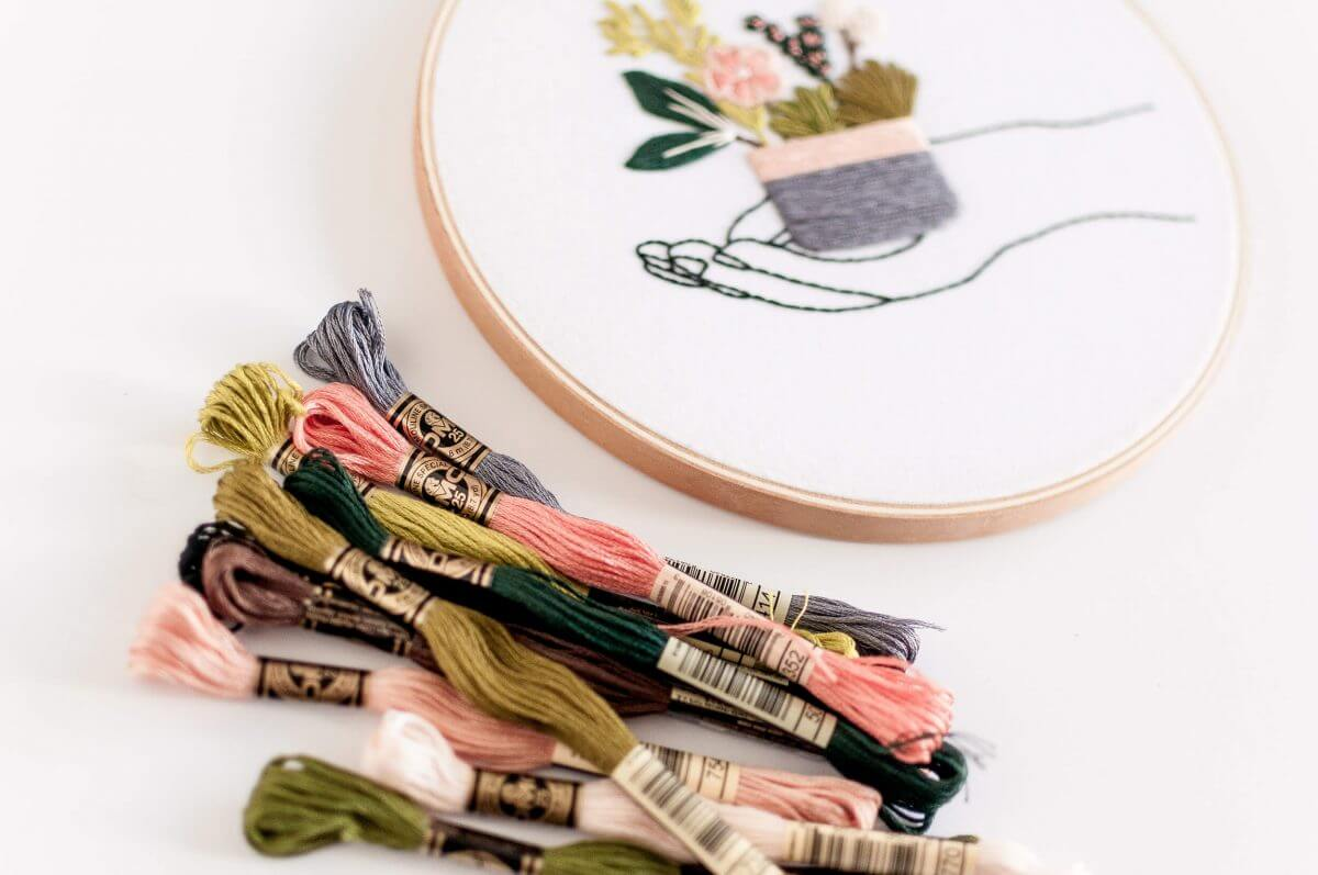 In Your Hands Do it Yourself Embroidery Kit with Pattern