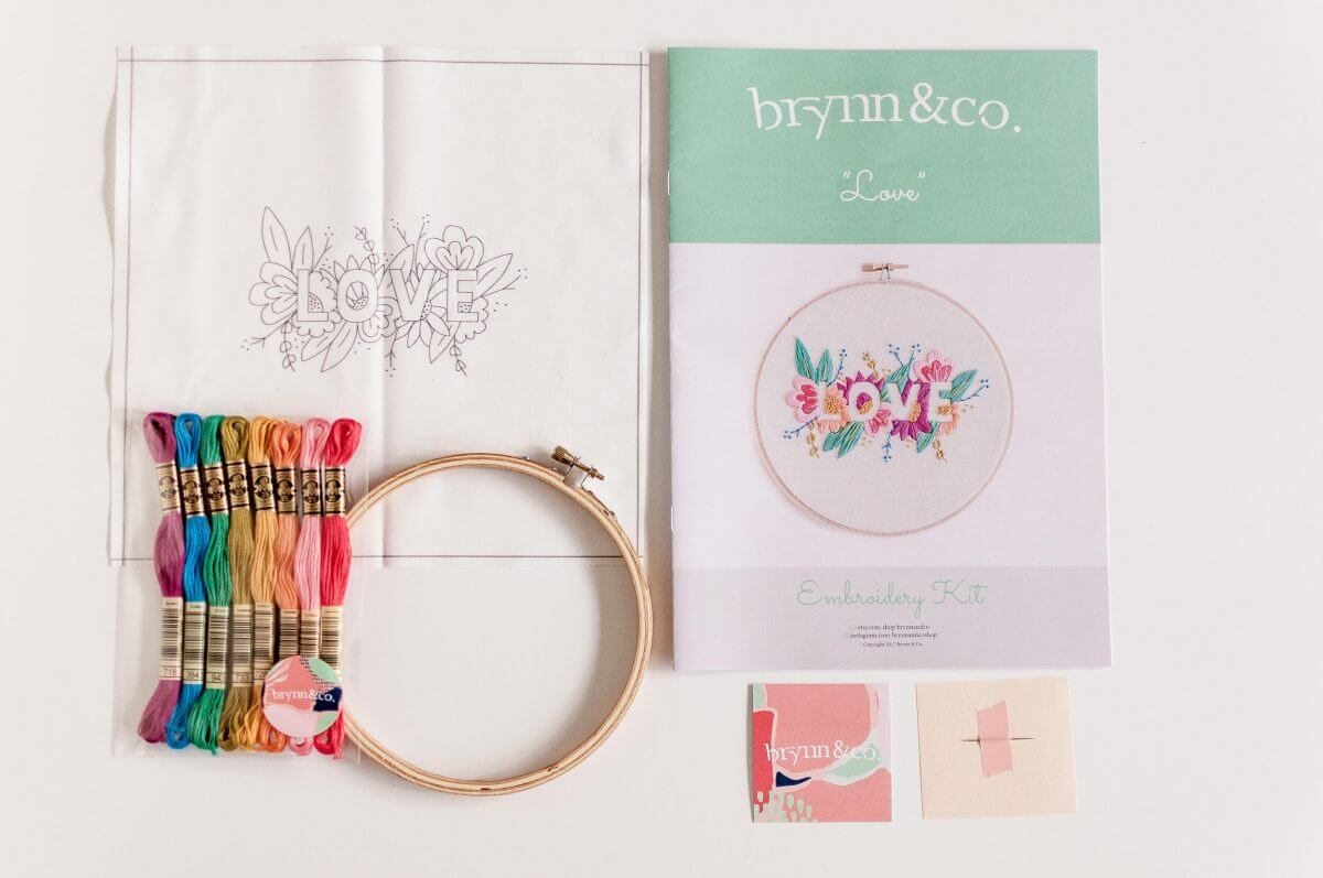 LOVE Do it Yourself Embroidery Kit with Pattern
