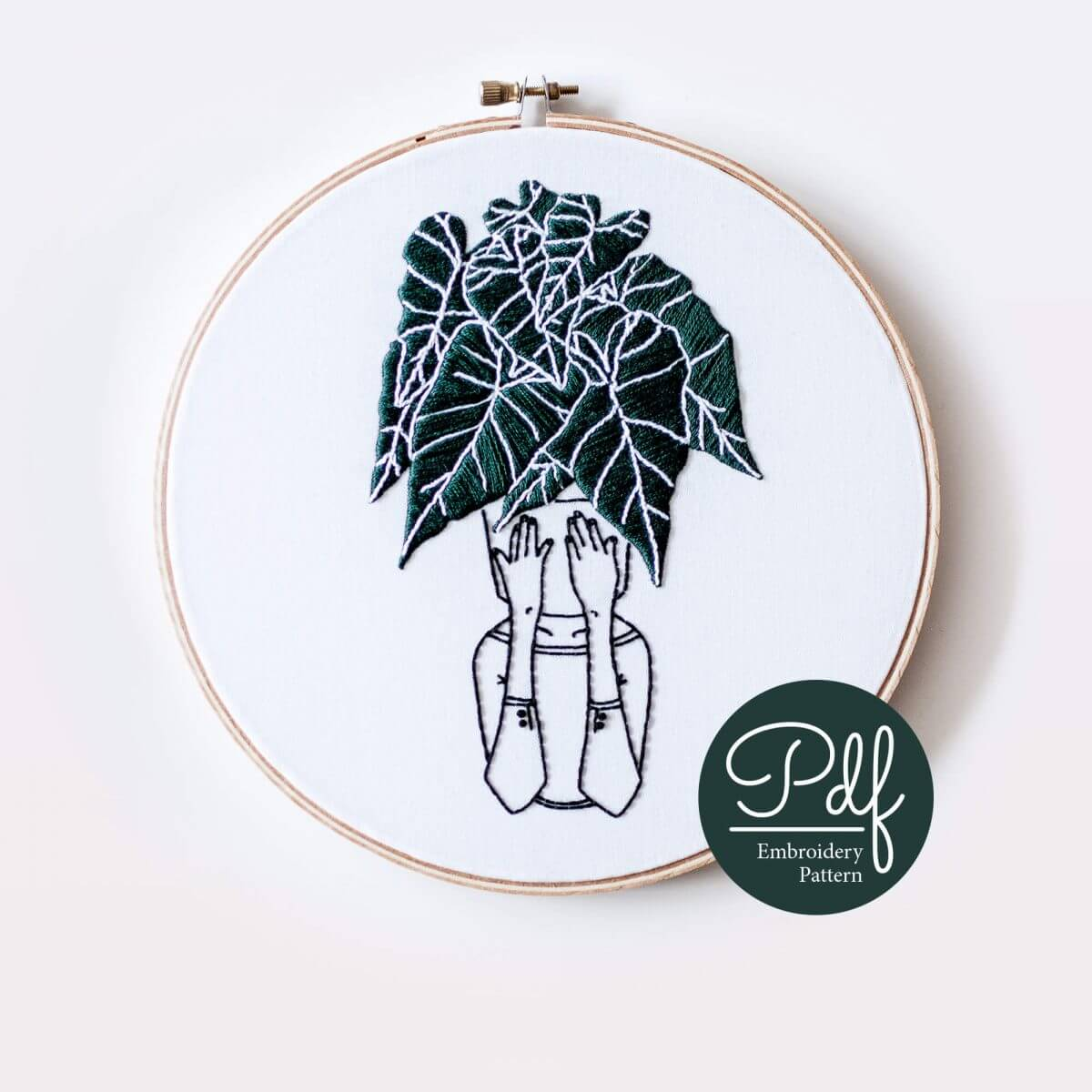 Florence in the Jungle Embroidery pattern PDF Digital Download