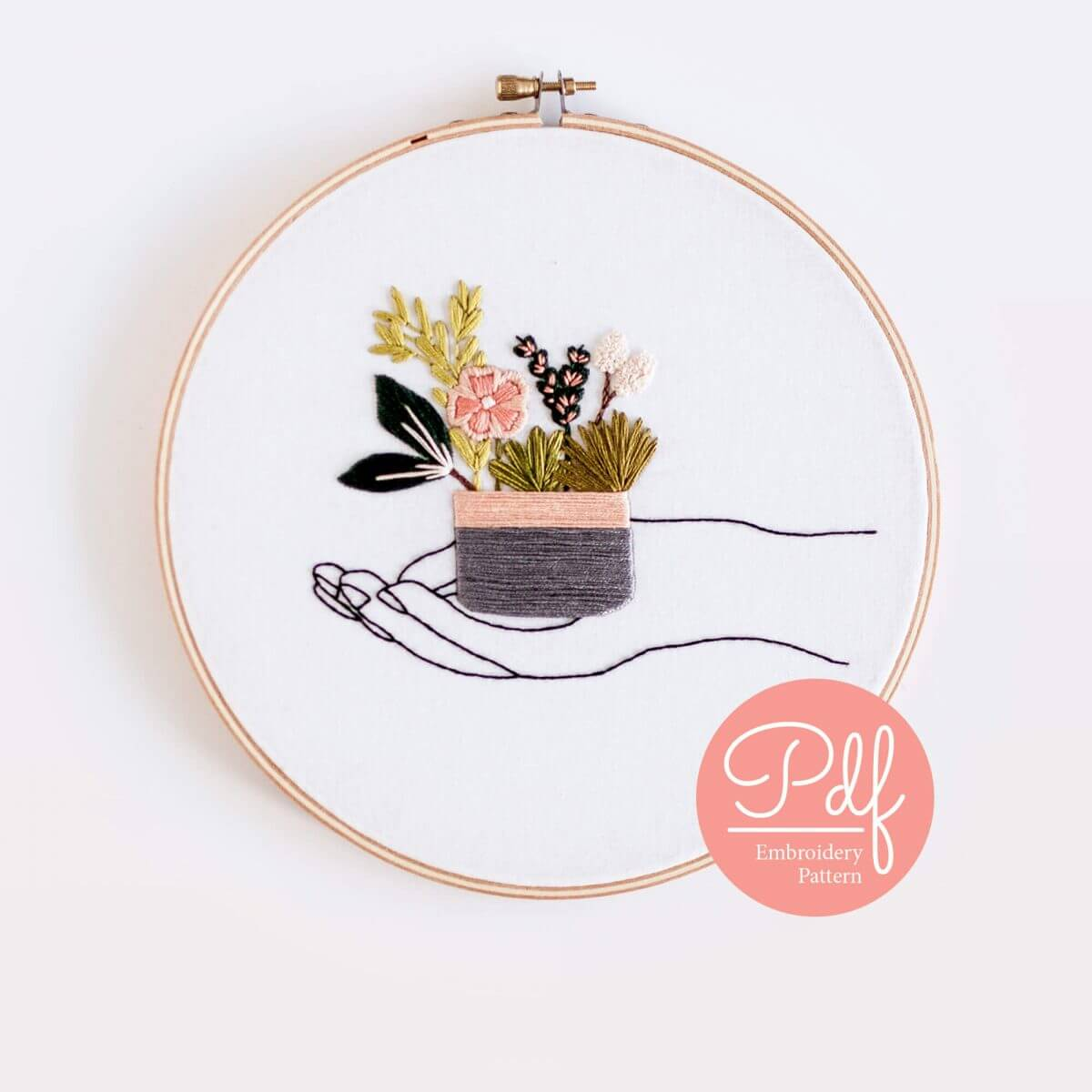 In Your Hands Embroidery pattern PDF Digital Download