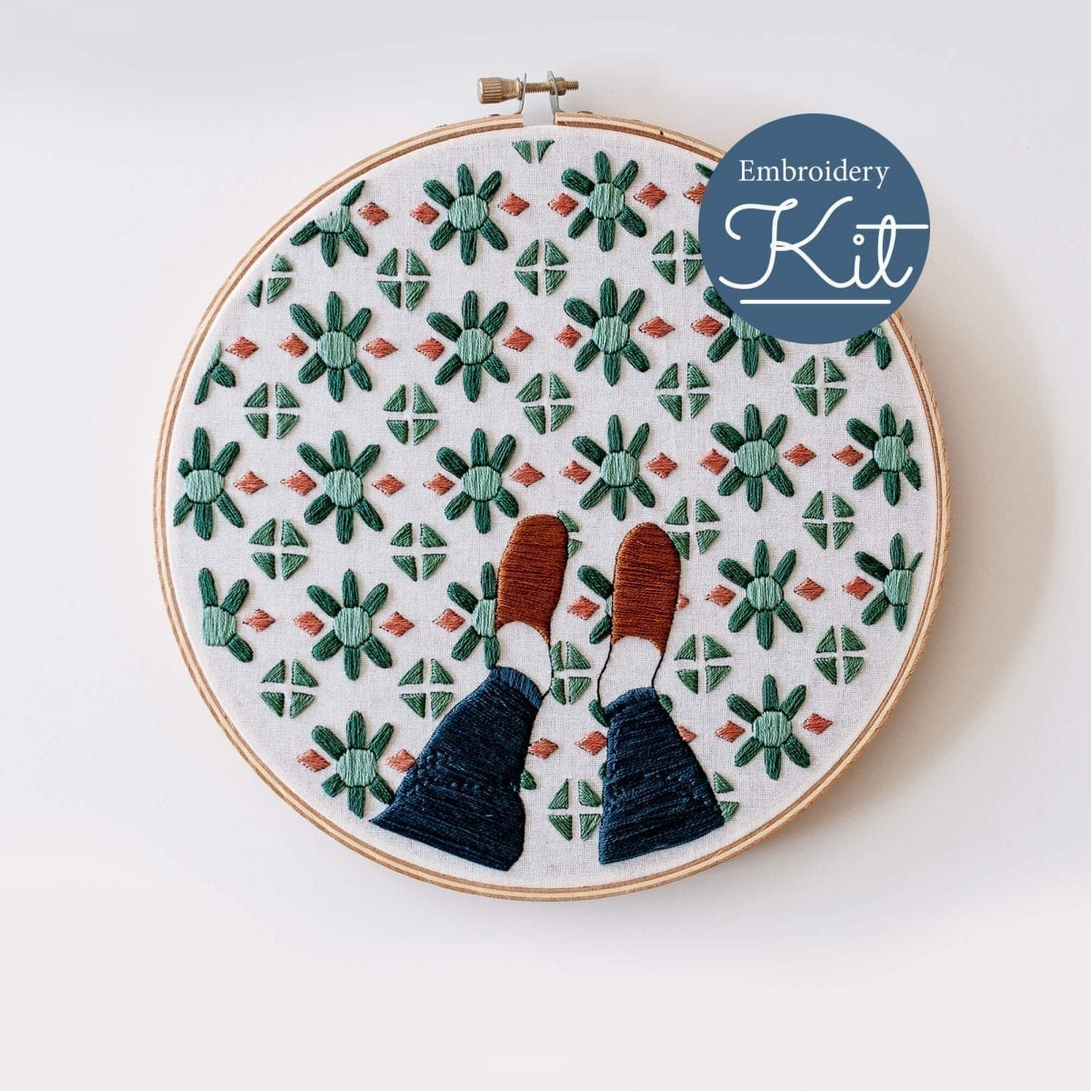 Fancy Feet Embroidery Kit & Pattern