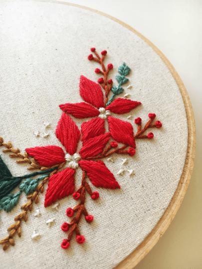 Christmas Spray PDF Embroidery Pattern