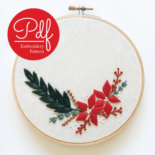 Christmas Spray PDF Embroidery Pattern