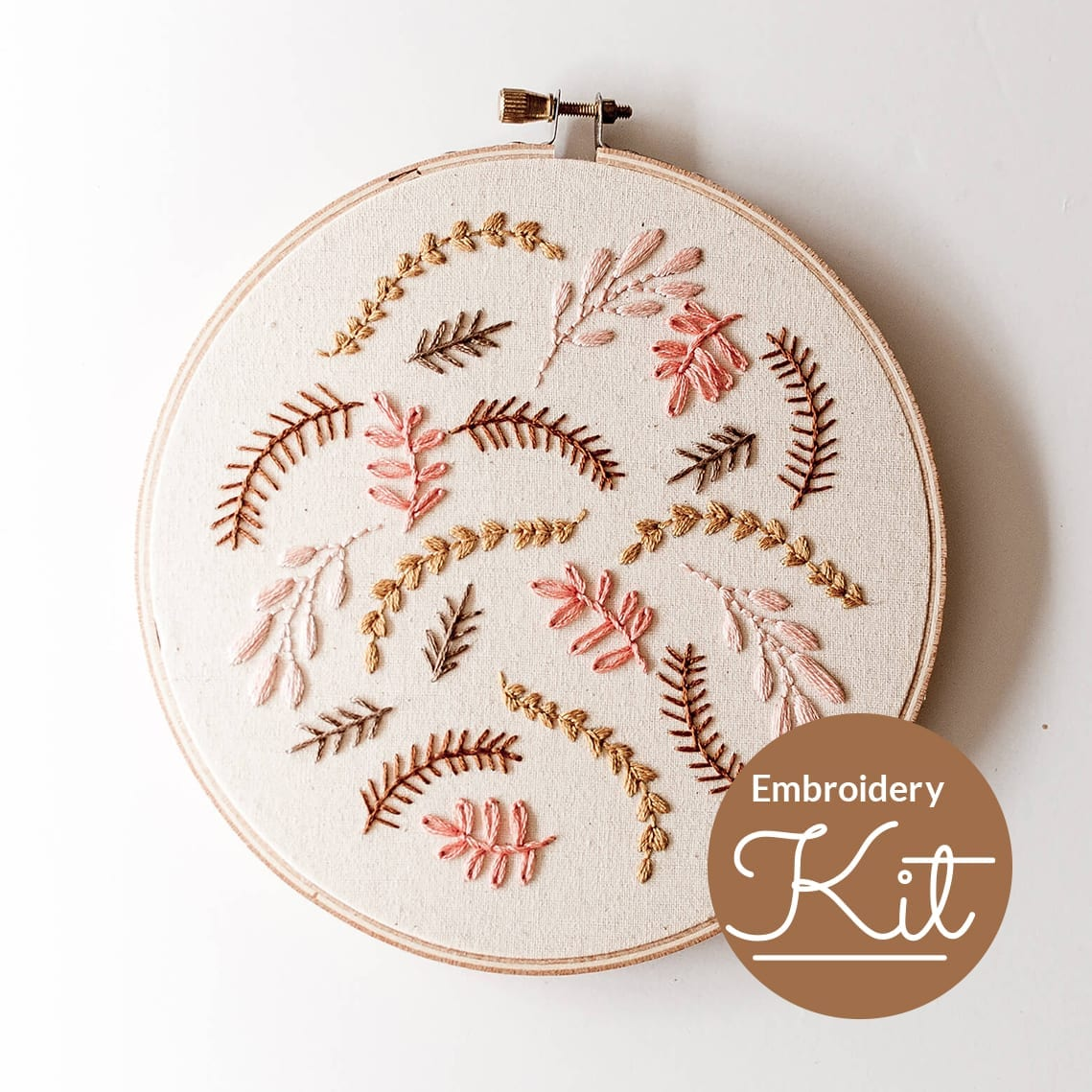 Coral Breeze Do it Yourself Embroidery Kit & Pattern