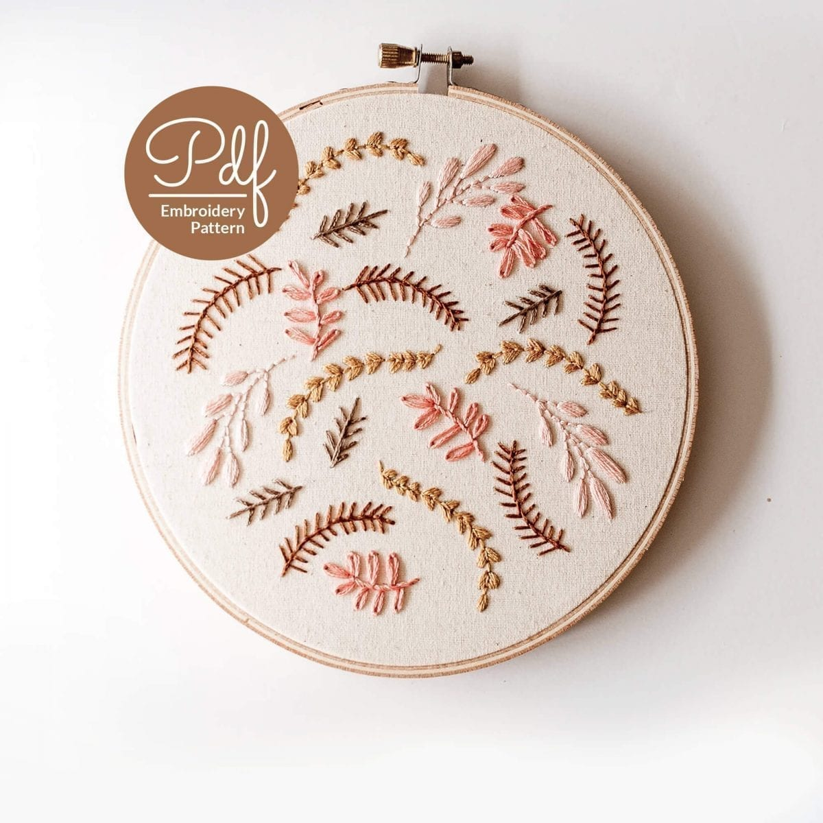 Coral Breeze PDF Embroidery Pattern