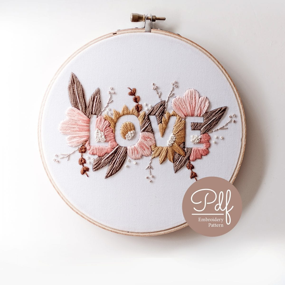 LOVE Soft Palette PDF Embroidery Pattern