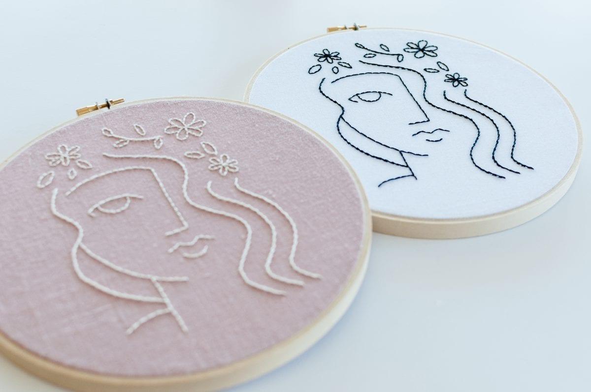 Flora Embroidery kit & Pattern