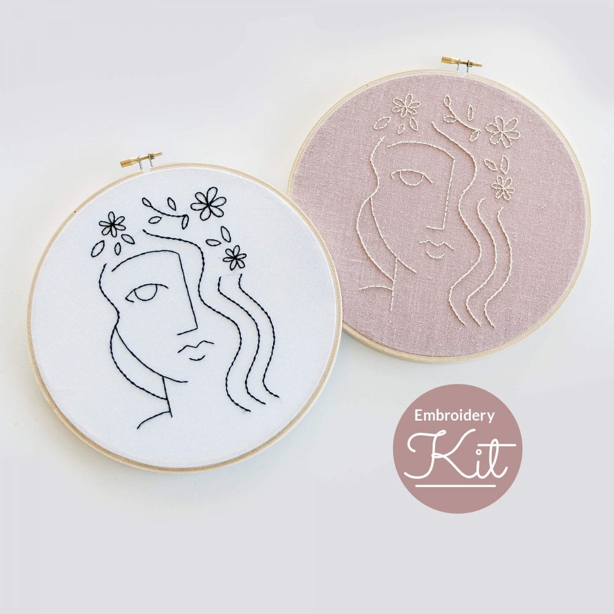 Flora Embroidery kit & Pattern