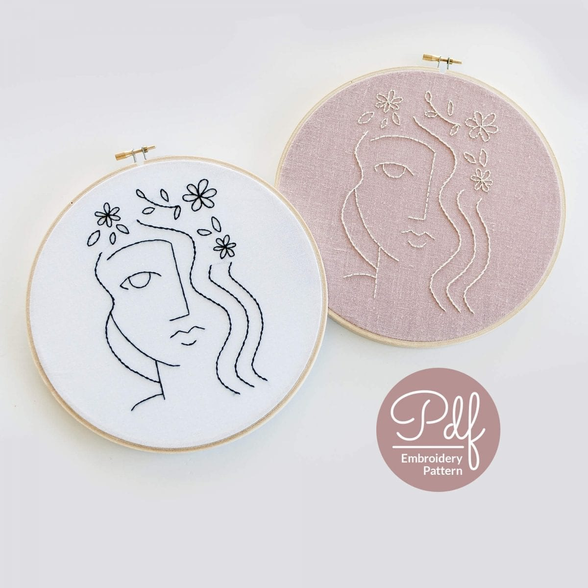 Flora Embroidery Pattern