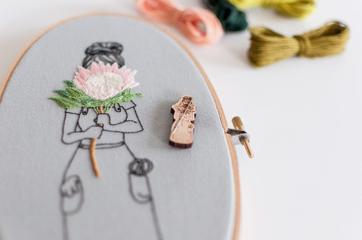A collaborative project between Brynn&Co. and Thread Folk Wooden Needle Minders