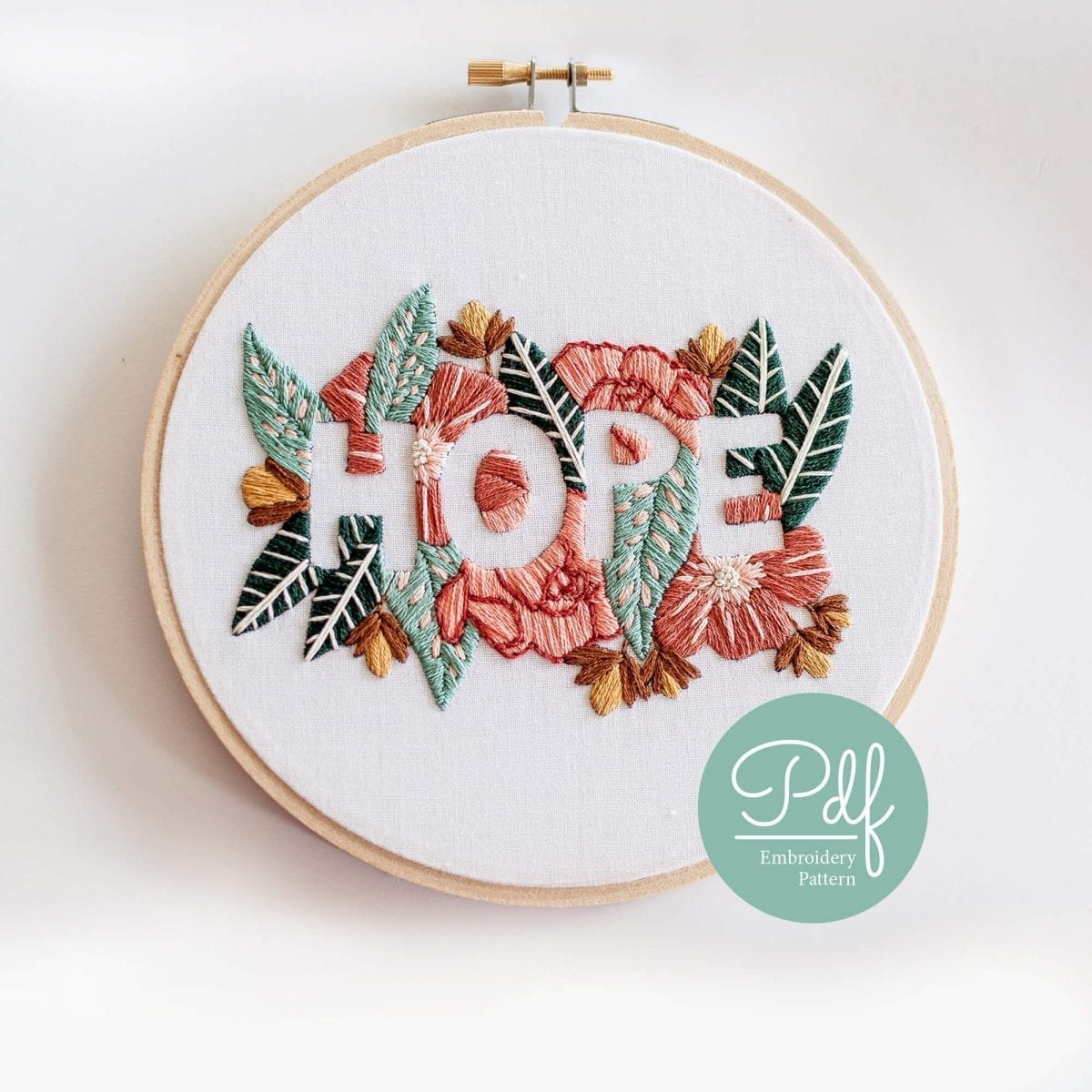 Do it yourself HOPE Embroidery PDF Pattern
