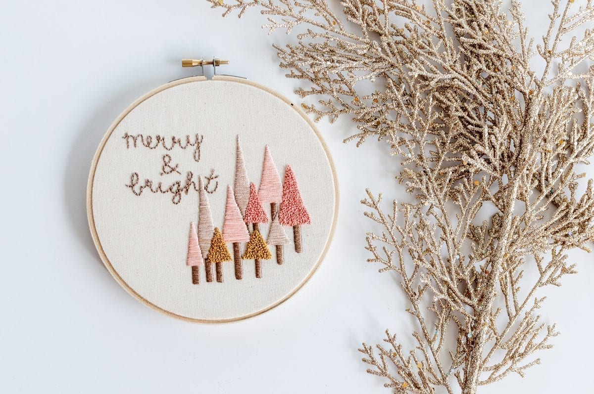 Do it Yourself Merry & Bright Embroidery Kit