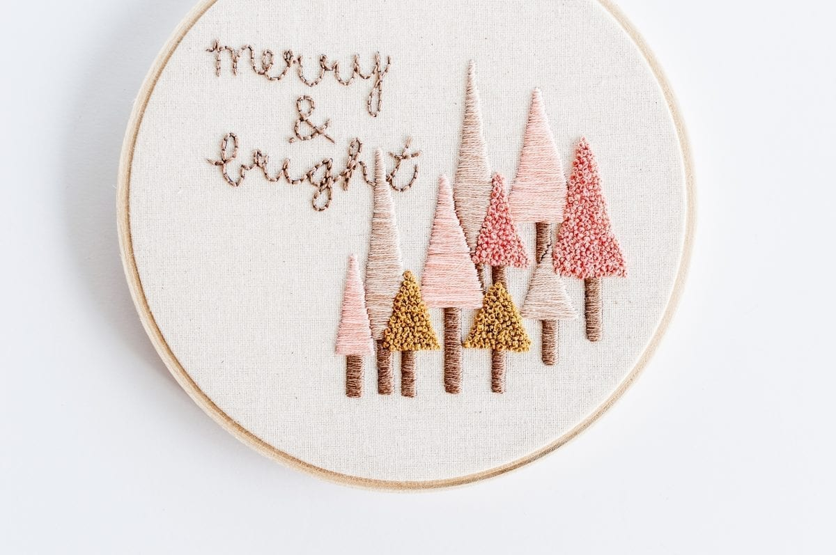 Do it Yourself All is Calm All is Bright Embroidery PDF Pattern