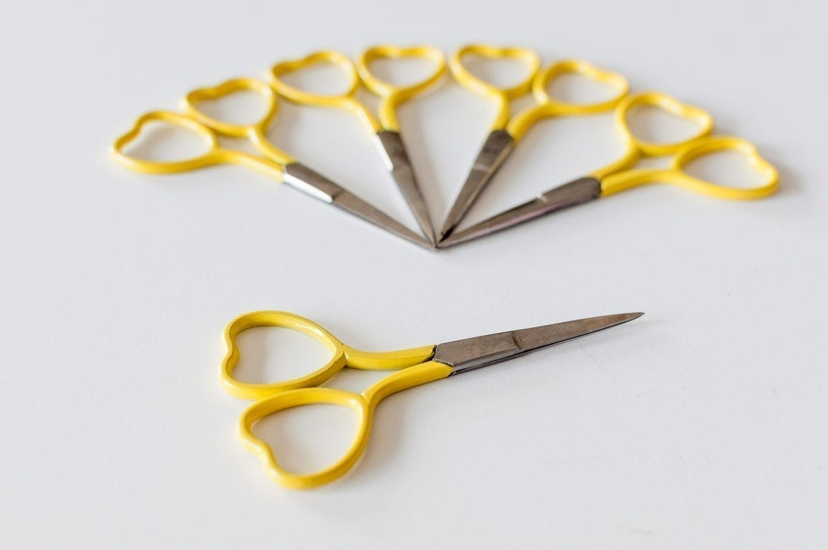 Yellow Heart Embroidery Scissors