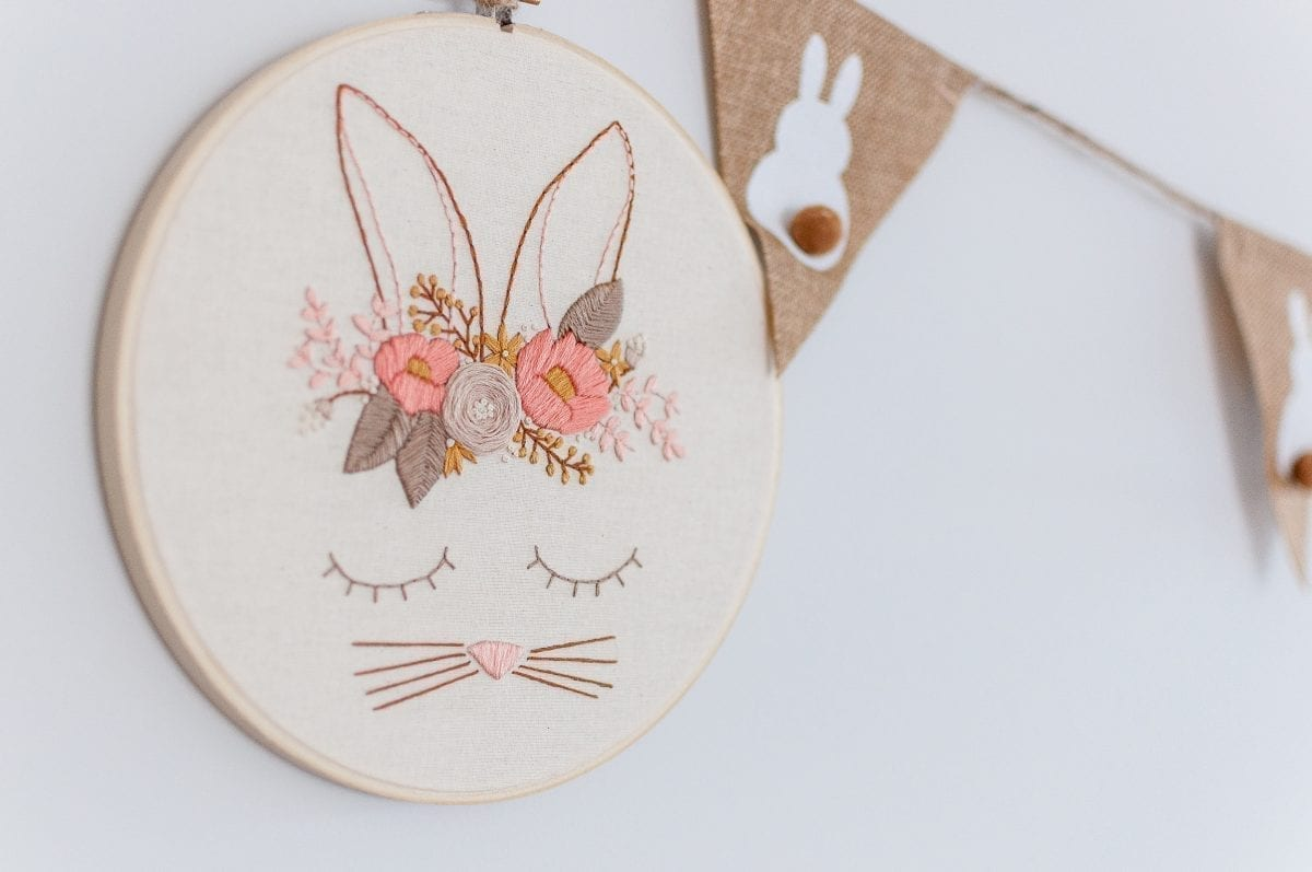 Posy Rabbit Do It Yourself PDF Embroidery Pattern