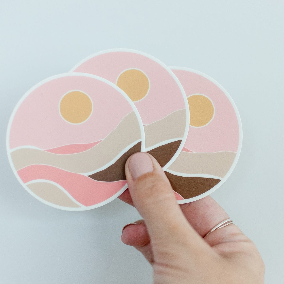 Faded Sun Vinyl Sticker