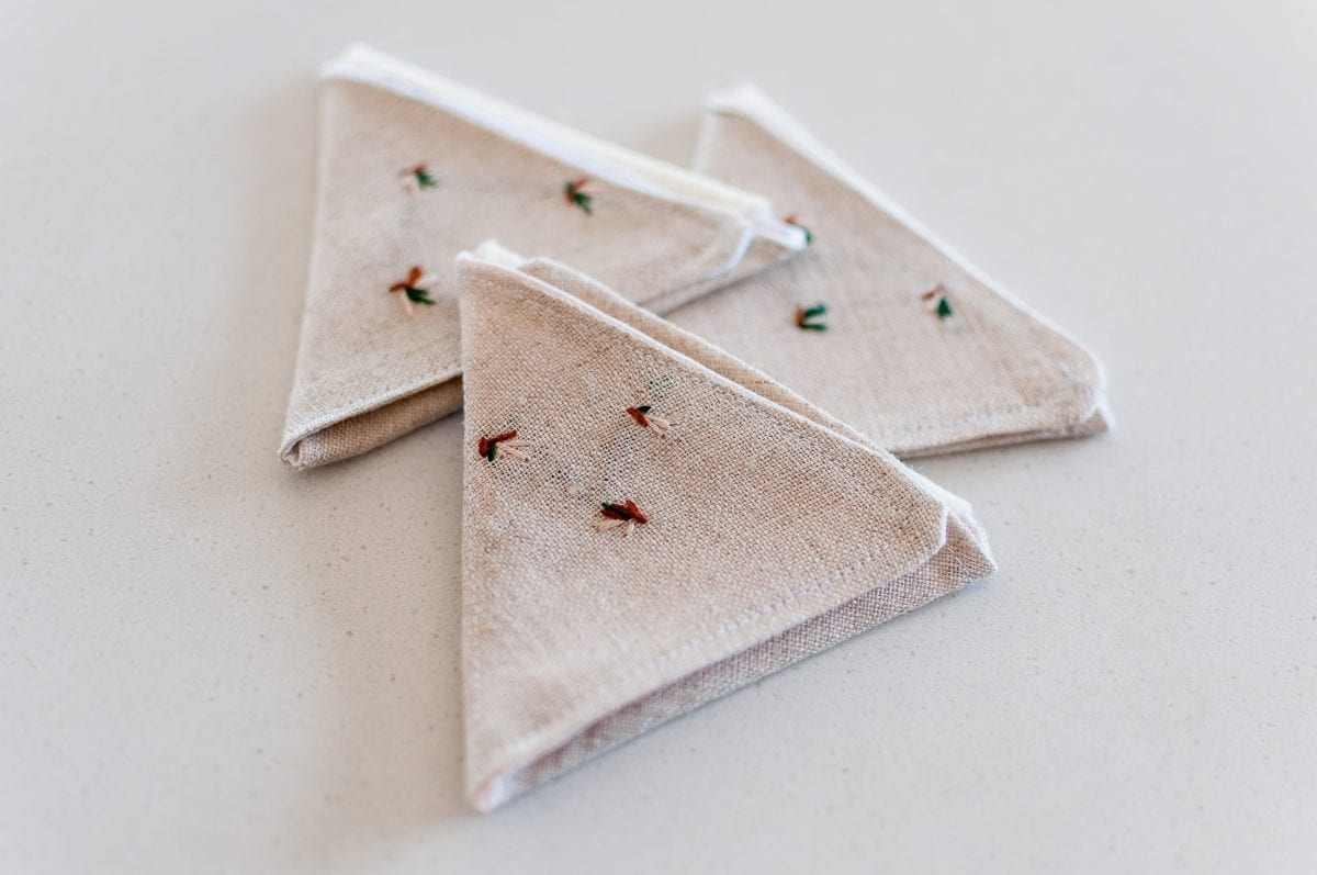 Handcrafted Linen Needle Keepers