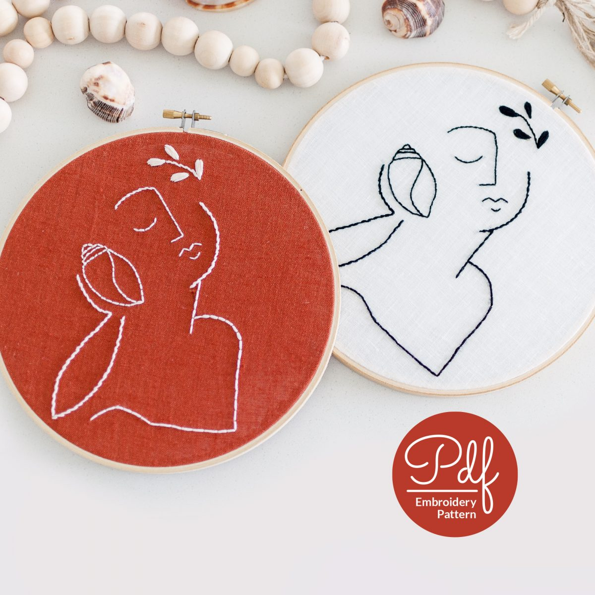 The Conch Shell Whisper Do It Yourself Embroidery Pattern