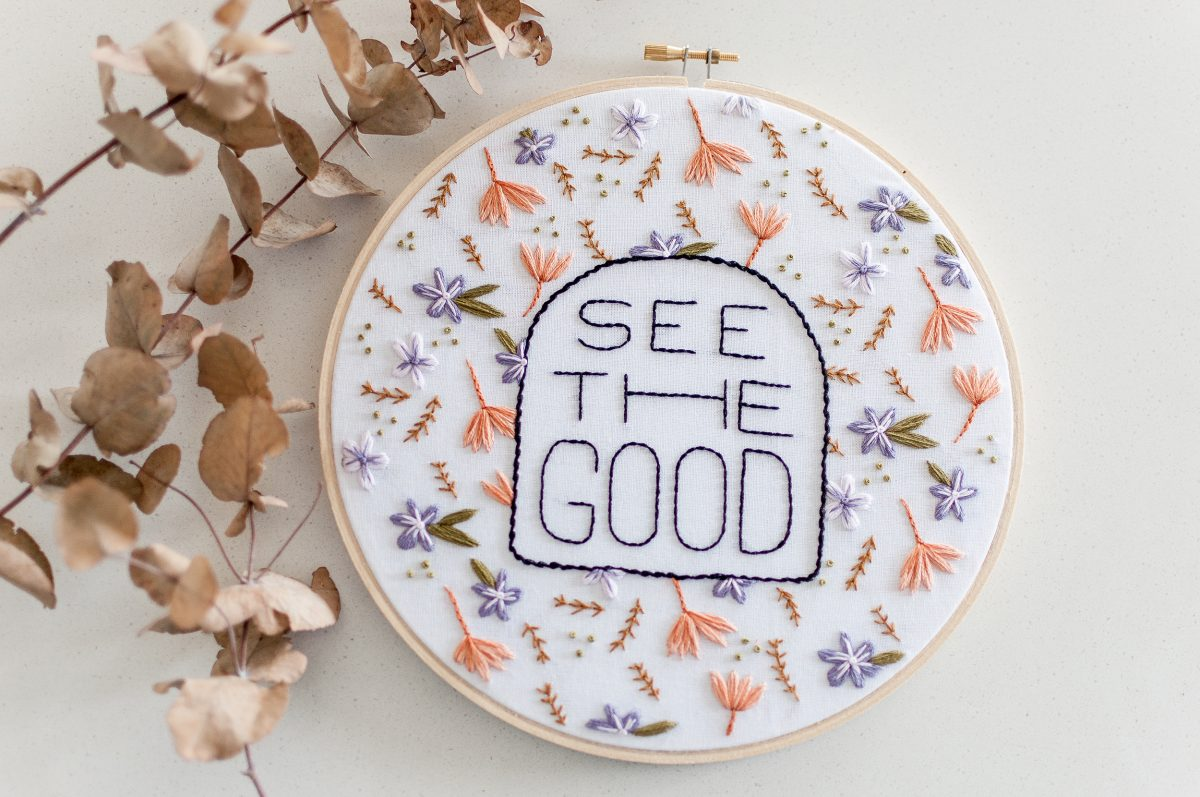 See The Good Do It Yourself Embroidery Kit