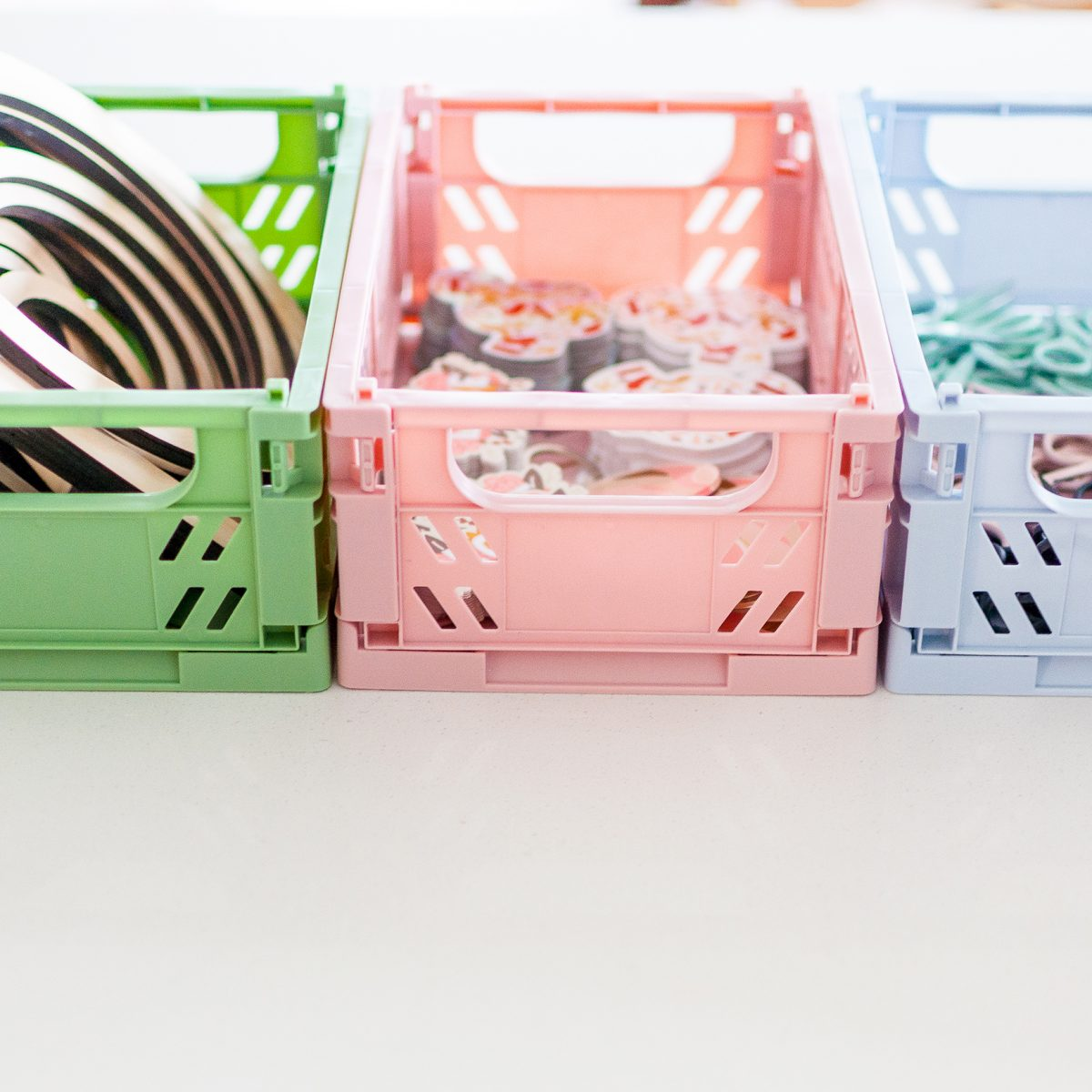 Foldable Storage Crates in Multiple Colours