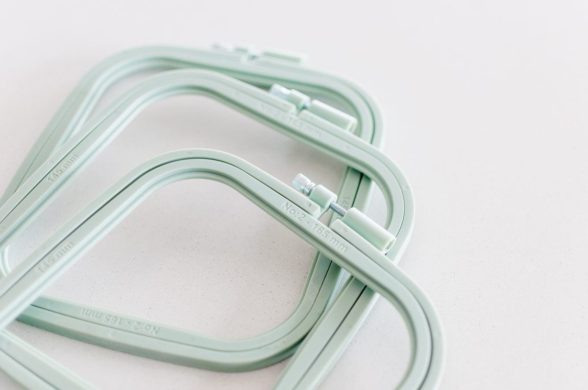 Colourful Square Embroidery Hoops