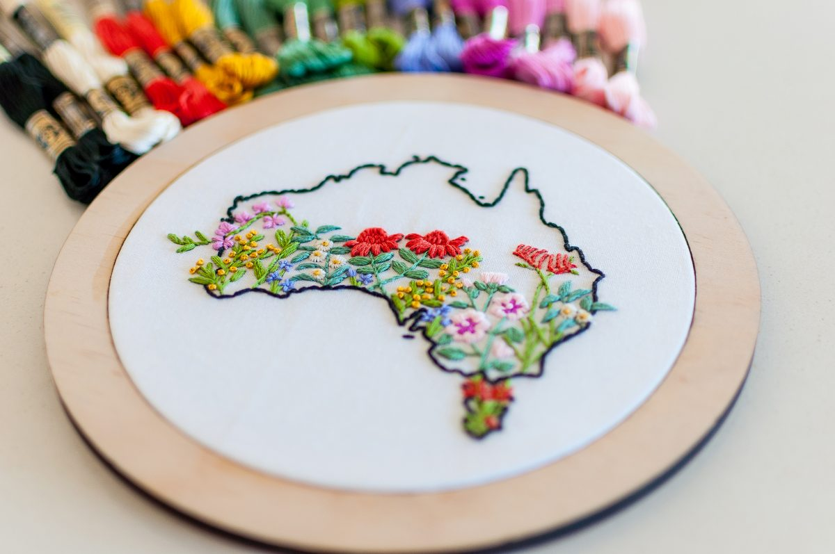 Australia Native Flowers Do It Yourself Embroidery Kit